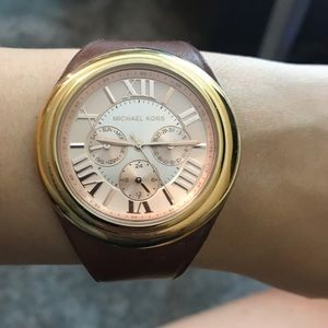 Michael Kors watch with leather strap